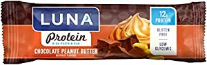 LUNA PROTEIN - Gluten Free Protein Bar - Chocolate Peanut Butter - (1.59 Ounce Snack Bar, 6 Count)