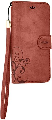 Natural Design Smart Cover Notebook 4.7インチ対応 (iPhone6/6s) ワイン (カードポケット&ハンドストラップ付)