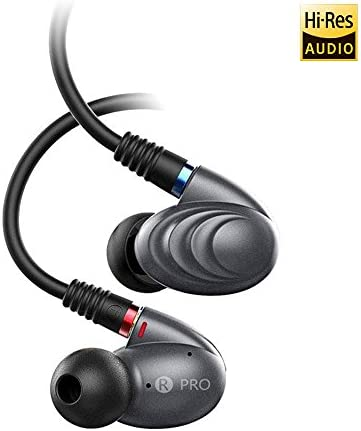 FiiO F9 PRO Best Over The Ear Headphones Earphones Earbuds Detachable Cable Design Triple Driver Hybrid 1 Dynamic 2 Knowles BA in-Ear Monitors with Android Compatible Mic and Remote Titanium …