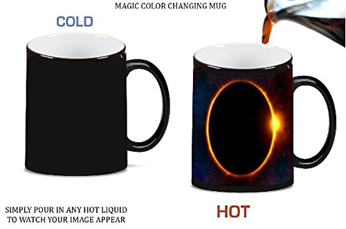 Solar Eclipse Magic Color Morphing Ceramic Coffee Mug Tea Cup by Moonlight Printing
