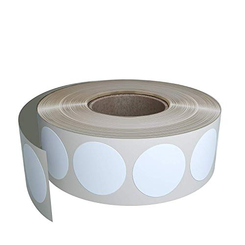 Royal Green White dot Stickers Roll - Round Label Write On Surface 19mm (3/4