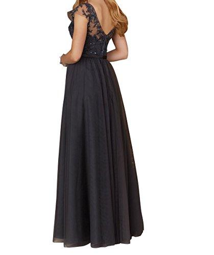 Promkleider Brautmutterkleider 2018 Lang Ausschnitt Spitze Ballkleider V Braun mia Braut La Formalkleider Abendkleider Neu qRwTwP0