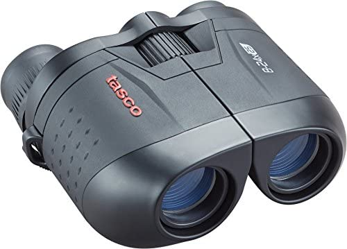 TASCO ES82425Z Essentials Porro Prism Porro MC Zoom Box Binoculars, 8-24 x 25mm, Black