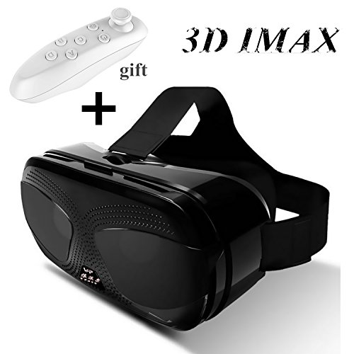 """Price comparison product image 3D VR Glasses with Remote Controller,  Virtual Reality Headset Goggles for 3D Videos Games for iPhone 8 7 Plus 6S,  Samsung S8 S4 S3 J5 J7 J3 A3 A5,  LG G3 G4,  Moto HTC & more 4.5-6.0"""" Cellphones"""