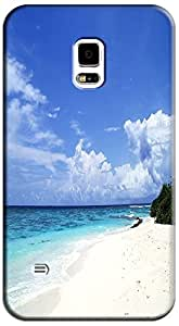 Fantastic Faye Cell Phone Cases For Samsung Galaxy S5 i9600 No.12 The Fashion Design With Warm Sunshine Beach Blue Sky Clean Water Sea Star Beautiful Shell Slipper