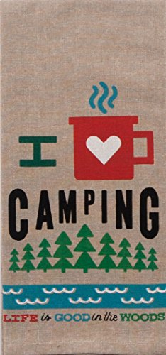 I Love Camping. Life Is Good In The Woods Tea Towel made our list of Inspirational And Funny Camping Quotes