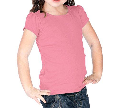 Kavio Little Girls 3-6X Scoop Neck Puff Sleeve Bubblegum Pink (Puff Sleeve Bubble)