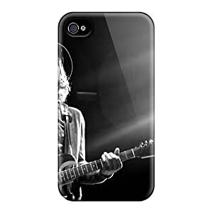 Protective Hard Cell-phone Cases For Iphone 4/4s (PZL11049xFou) Custom Attractive Foo Fighters Band Image