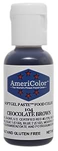 Americolor Soft Gel Paste Food Coloring, Chocolate Brown Net WT.    .75oz