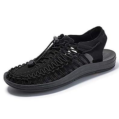31da5ddd2ac0 [RAKUSHEEP] ギーン同質NOBRAND品 ユニークUNEEK Open Air Sneaker スニーカー サンダル 男女兼用