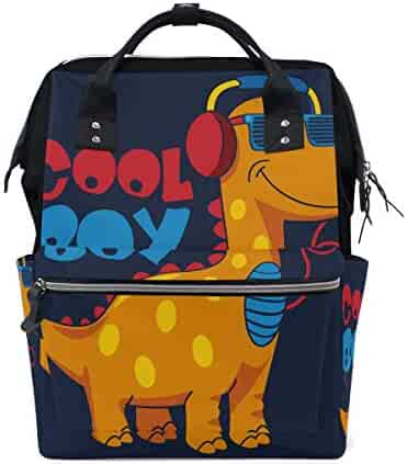 d04668bcf672 ColourLife Diaper Bag Backpack Cool Dinosaur Boy Casual Daypack  Multi-Functional Nappy Bags