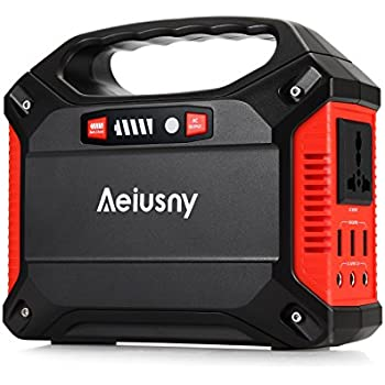 Aeiusny Portable Generator 155Wh Power Inverter Battery Camping CPAP Emergency Home Use UPS Solar Charger Charged by Solar Panel/ Wall Outlet/Car with 110V AC Outlet,3DC 12V,3USB Ports
