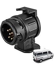 13 Pin to 7 Pin Towing Adaptor 12V Waterproof Electric Adaptors Socket Converter Connector for Trailer, Caravan, Trailer Board