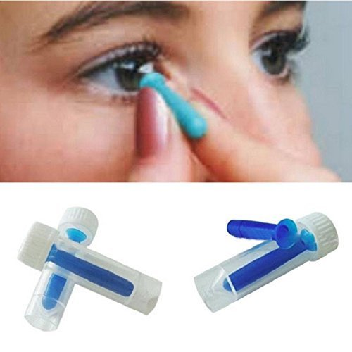 Liz Collection 3pcs 3cm Long Contact Lens Inserter and remover Suitable For Soft Hard Lenses Cosmetic Contact Lenses Portable...