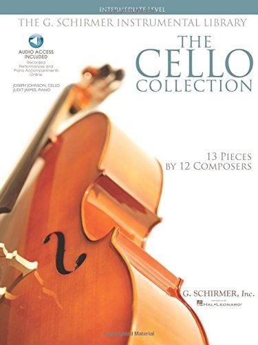 The G. Schirmer Instrumental Library: The Cello Collection - Intermediate Book/Audio