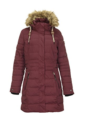 G.I.G.A. DX Women's Hawana Casual Function Parka in Down Optic with Zip Off Hood burgundy