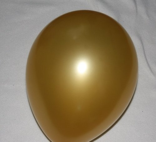 50 GOLD metallic pearl latex balloons for helium or air 11 size ...