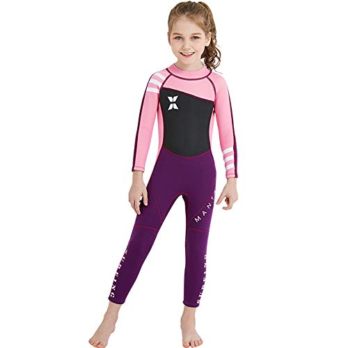 DIVE   SAIL Kids Diving Surfing Snorkeling Wetsuit 2.5MM One Piece Full Body  Long Sleeve Swimsuit Neoprene UV Protective Rash Guard Full Suit Swimsuit  Kids ... a54b3ff96