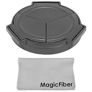 Auto Lens Cap for SIGMA DP1 DP1s DP2 (Black) + Premium MagicFiber Microfiber Lens Cleaning Cloth