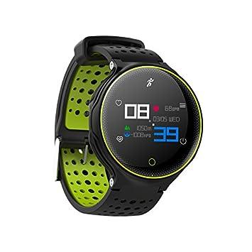 Parnerme Fitness Activity Tracker para natación Monitor de Ritmo Fitness Activity Tracker Watch IP68 Impermeable, Elegante Brazalete Deportivo Soporte App ...