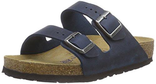 BIRKENSTOCK Classic Arizona Leder, Unisex-Erwachsene Pantoletten, Blau (Insignia Blue), 42 EU