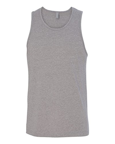 Next Level Men's Rib-Knit Sublimated Muscle Tank Top, Large, Dark Heather ()