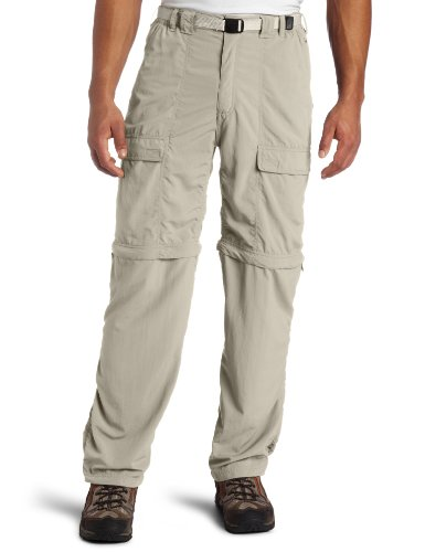 White Sierra Men's Trail 32-Inch Inseam Convertible Pant, Large, Stone