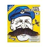 Grey Wing Commander Fake Moustache (struts-6992) by Struts Fancy Dress