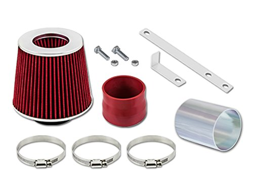 Velocity Concepts Red Short Ram Air Intake Kit + Filter 04-08 Pontiac Grand Prix 3.8L V6 (2006 Pontiac Grand Prix Cold Air Intake)