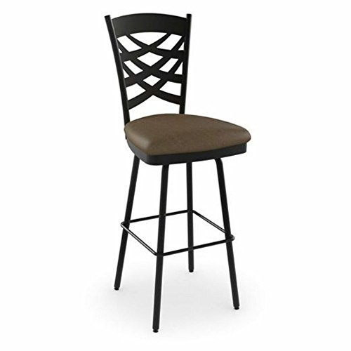Amisco Nest Swivel Metal Counter Stool with Backrest, 26-Inch, Cobrizo/Amazon from Amisco Industries