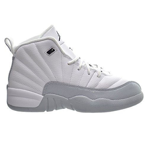 Air Jordan 12 Retro GP Little Kid's Shoes White/Black/Wolf Grey 510816-108 (3 M US) by Jordan
