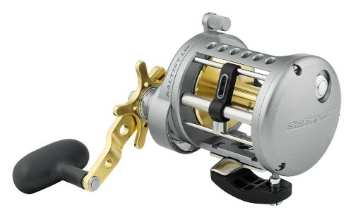 (Daiwa Saltist Levelwind 6.4:1 Right Hand Conventional Fishing Reel - STTLW50HA)