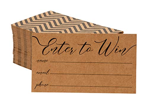 (Juvale 200-Pack Kraft Enter to Win Entry Form Cards for Contests, Raffles, Ballots, 3.5 x 2 Inches)
