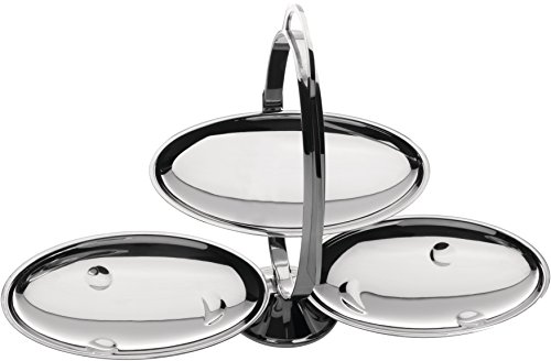 Alessi AM37 Anna Gong Folding Cake Stand, Silver by Alessi