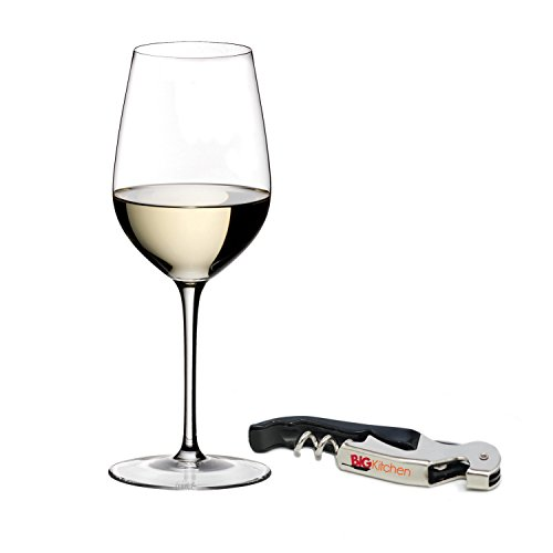 Riedel Sommeliers Leaded Crystal Riesling Grand Cru Wine Glass with Bonus BigKitchen Waiter's Corkscrew ()