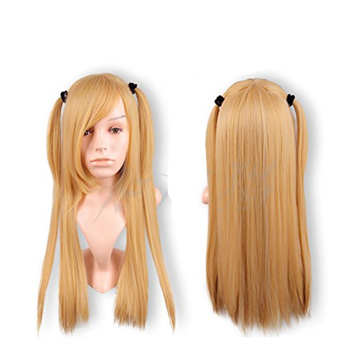 Mxnpolar Death Note Misa Wig Cosplay Halloween Party Hair Costume -