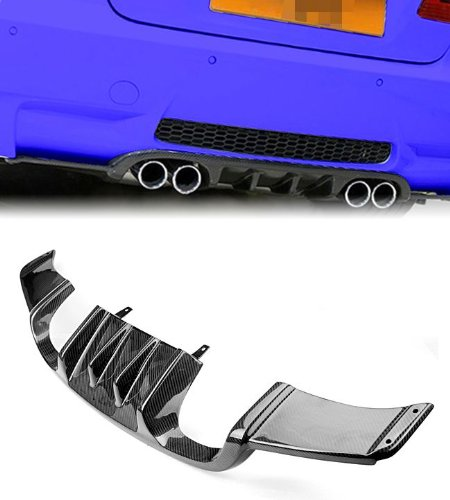 Ship From USA 2007-2011 BMW E92 E93 M3 Coupe Cabrio Real Carbon Fiber Rear Trunk Bumper Diffuser