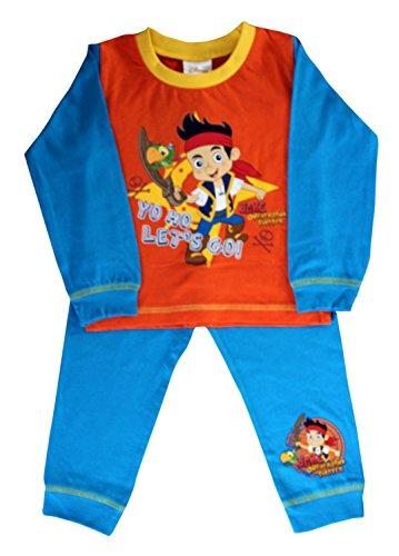 Disney - Jake Never Land Pirates Official Certified Boy's Full Sleeves Pyjama Shirt Set Orange & Blue Cotton Pyjamas (18-24 Months) by Disney - Jake Never Land Pirates