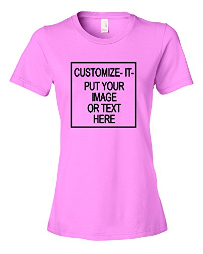 Ladies Customize It  Customize This Tee Shirt   Create Your Own Unique Style  T Shirt Light Pink Medium