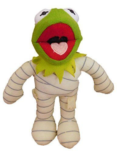 The Muppets Kermit the Frog Dressed As a Halloween Mummy Plush Stuffed Animal By Disney