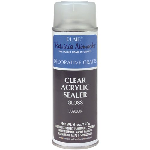 Plaid Enterprises, Inc. Clear Acrylic Sealer Aerosol Spray, -