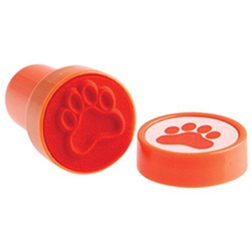 Lot Of 6 Orange Dog Puppy Paw Print Mini Stampers