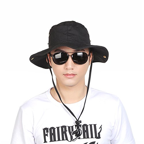 Hongtellor Outdoor Boonie Hat Fishing Hunting Bucket Safari Cap Sun Hat for Men & Women