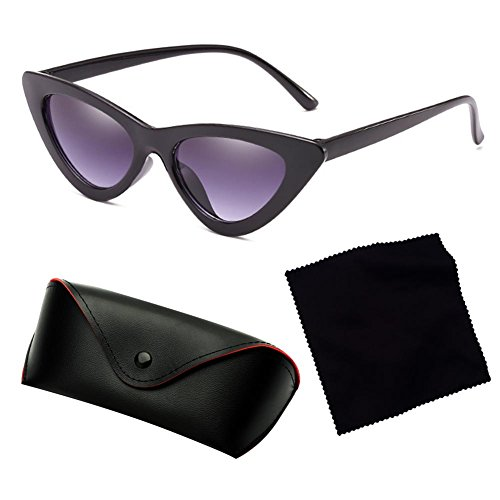 ojo de Gafas nuevas triángulo de gato sol de transparente de unisex sol pequeña Gafas de Highdas de Gafas caja C4 Uc0PZxfwq6