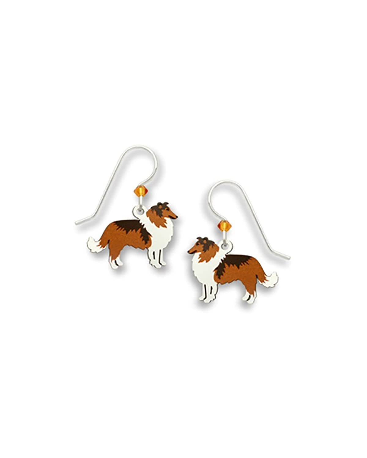 """Lassie"" Collie Dog Earrings Made in USA by Sienna Sky si1634"