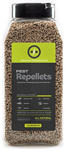 Non-Toxic Pest Repellent Pellets.Repels Rabbits, Rats, Deer, Snakes, Mice, Flea and Ticks, Spiders, Fire Ants and More. Safe for Children, Pets and Plants. 32 Ounce
