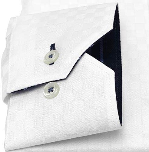 ブリックハウス ワイシャツ 長袖 形態安定 ラクリア ボットーニ ボタンダウン スリム メンズ BM010301AC11V3R-90 シロ M-84