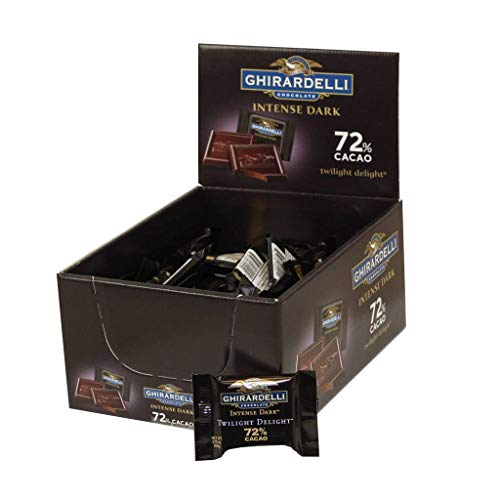 - Intense Dark 72 Percent Cacao Twilight Delight Squares, .375 Ounce -- 50 per case.