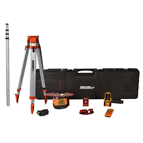 Johnson Level & Tool 99-028K Electronic Dual Slope Rotary Laser System, Hard Case Kit