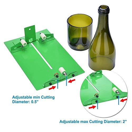 Agptek - Máquina cortadora de botellas de vidrio para bricolaje y manualidades (B015CAS2N4), verde, UN-HS0073+HS0073P-EU: Amazon.es: Iluminación